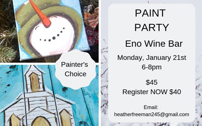 Paint Party at Eno