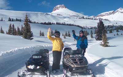Snowmobile + Train Adventure Package